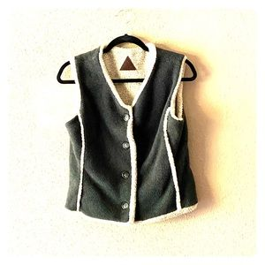 Adorable Fjäll Polartech Gray & Tan Plush Vest